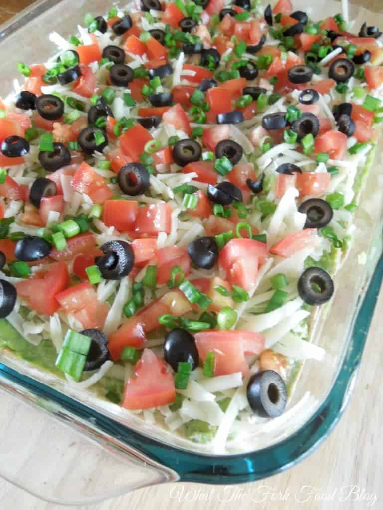 Seven Layer Dip from What The Food Blog