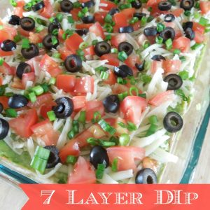 Seven Layer Taco Dip from What The Fork Food Blog