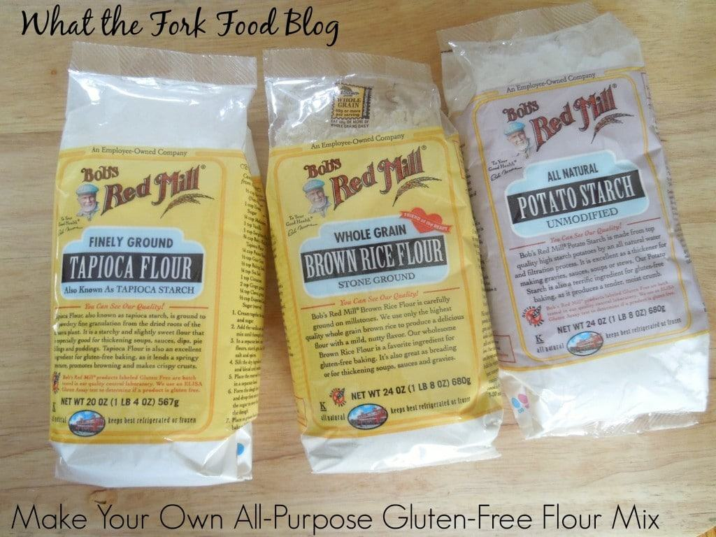 Make your own all purpose gluten free flour what the fork for Atkins cuisine all purpose baking mix where to buy