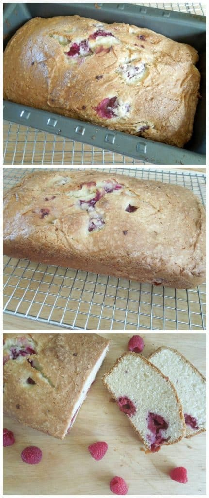 Raspberry Quick Bread from What the Fork Food Blog