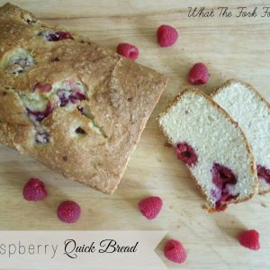 Gluten-Free Raspberry Quick Bread from What The Fork Food Blog