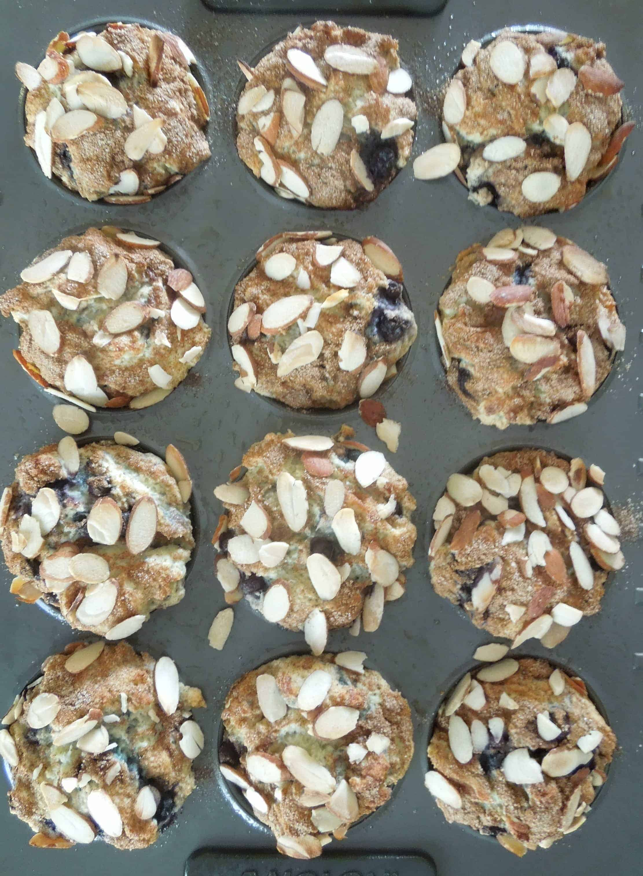 Blueberry Almond Muffins - What the Fork Food Blog