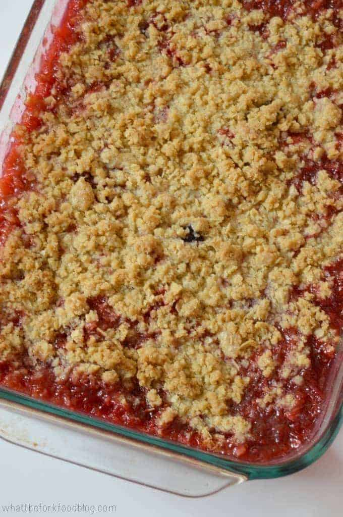 Berry Rhubarb Crisp from What The Fork Food Blog