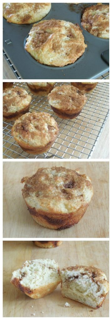 Cinnamon Swirl Muffin Collage from What The Fork Food Blog