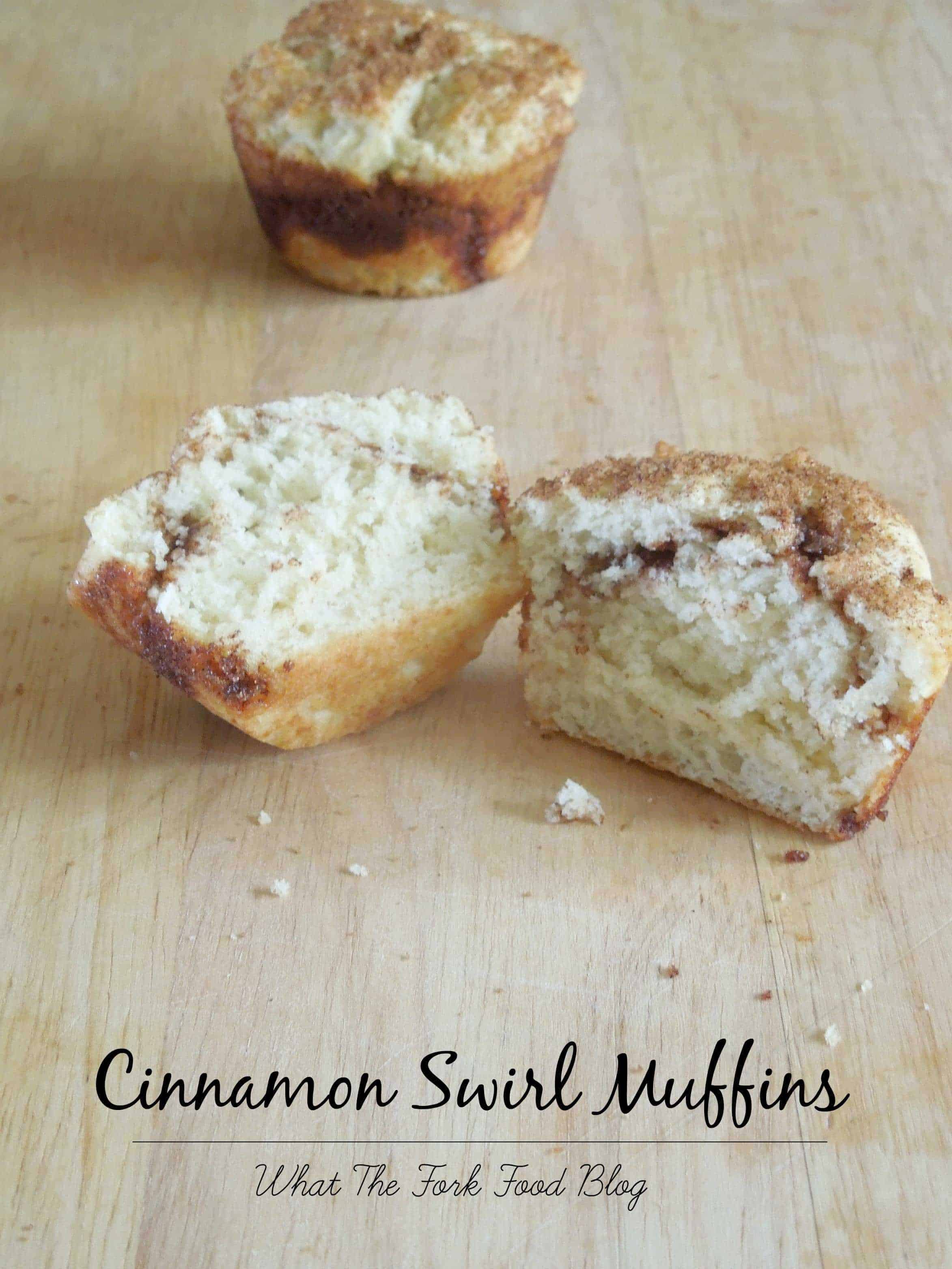Cinnamon Swirl Muffins from What The Fork Food Blog