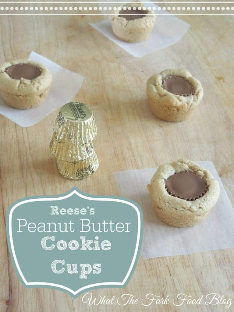 Reese's Peanut Butter Cookie Cups from What The Fork Food Blog