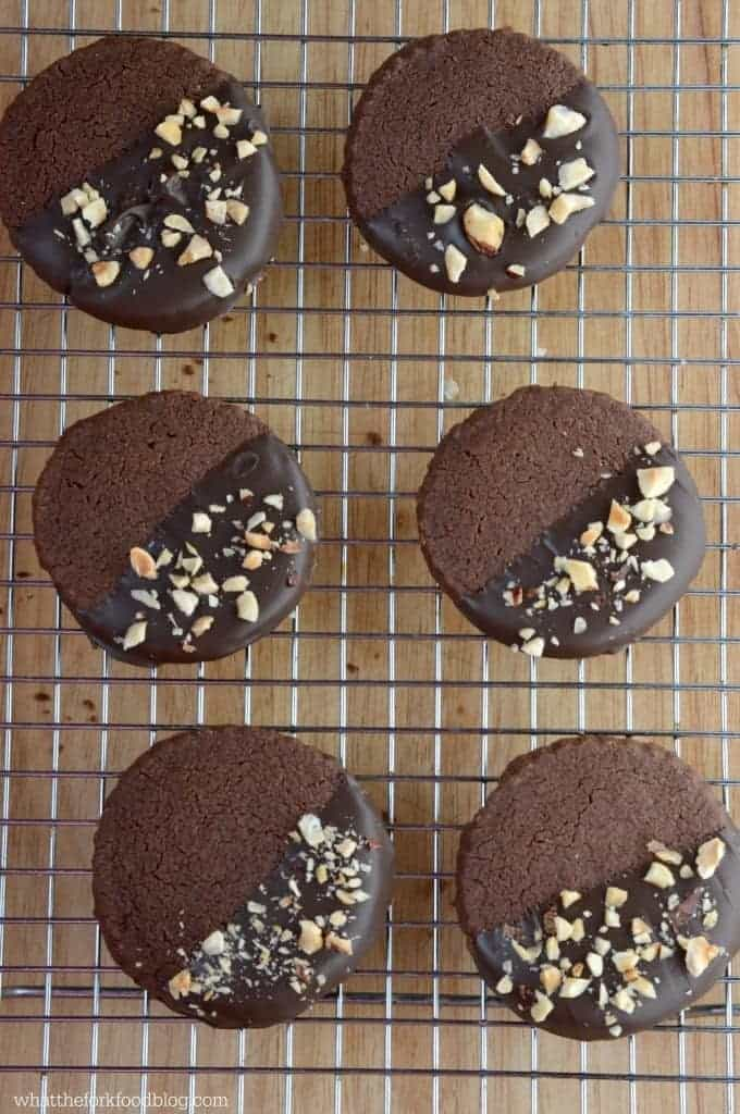Chocolate Hazelnut Shortbread Cookies from What The Fork Food Blog