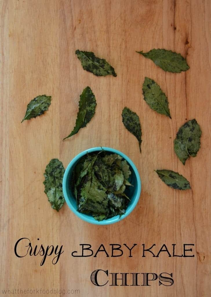 Crispy Baby Kale Chips from What The Fork Food Blog