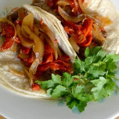 Crockpot Beef Fajitas from What The Fork Food Blog
