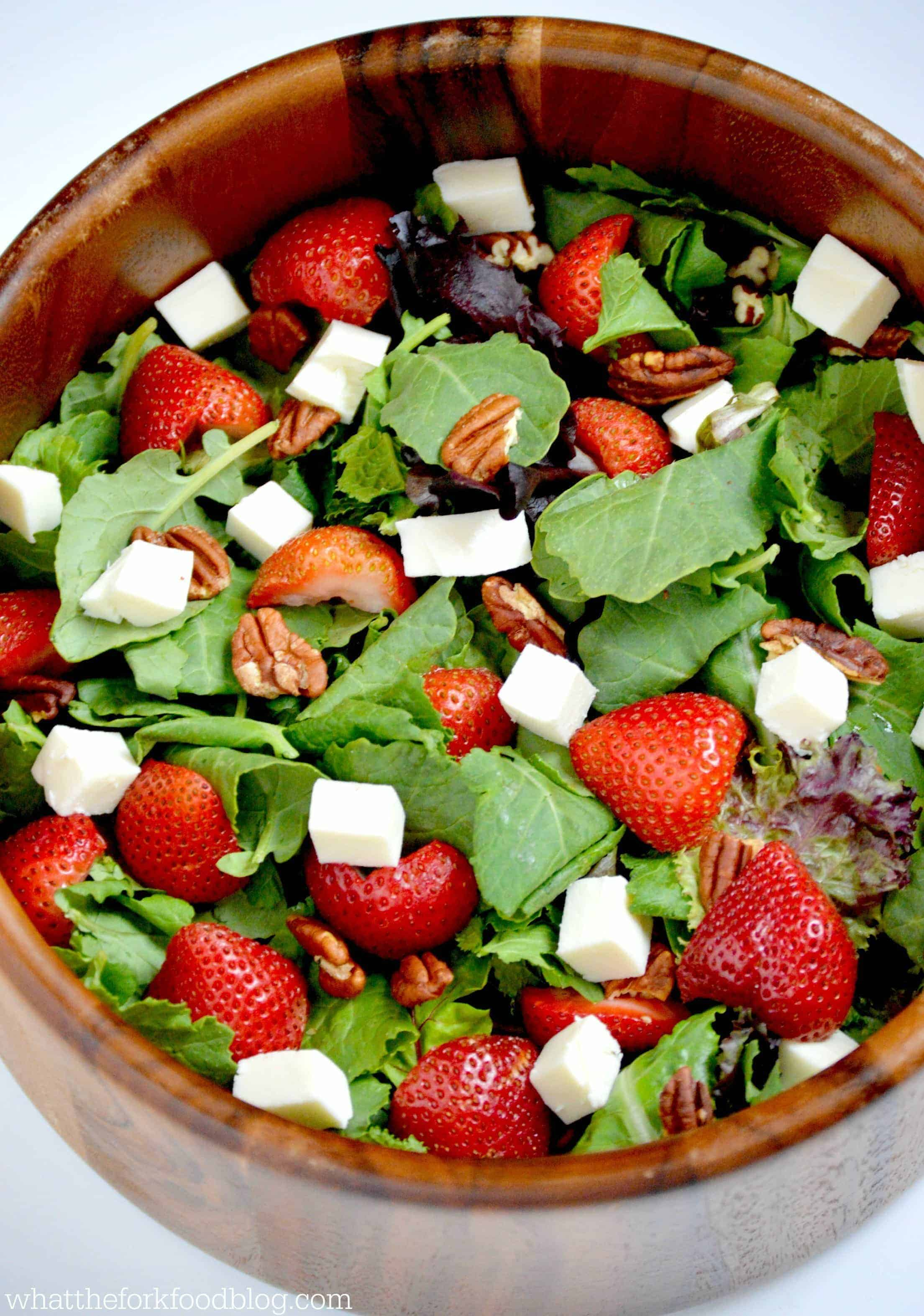 Strawberry Kale Salad from What The Fork Food Blog
