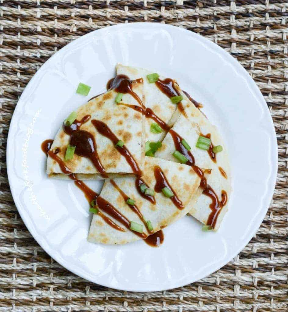 BBQ Chicken Quesadillas from What The Fork Food Blog