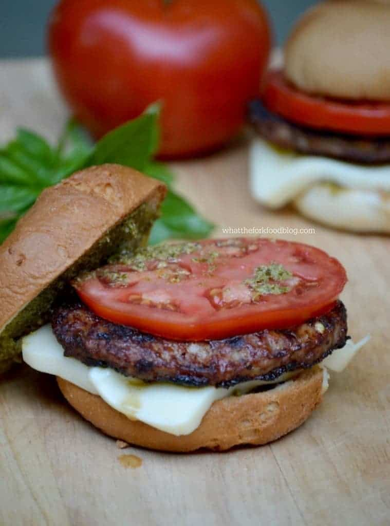 Caprese Sausage Patties from What The Fork Food Blog