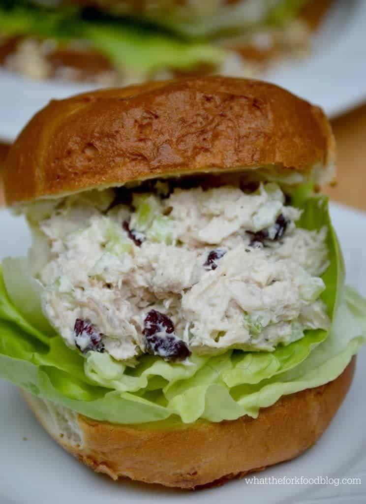 Cherry Craisin Chicken Salad from What The Fork Food Blog