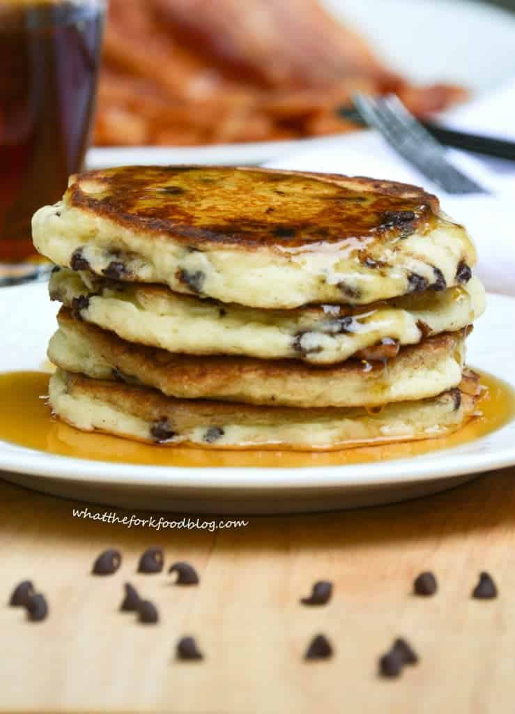 Kelseys chocolate chip pancakes what the fork kelseys chocolate chip pancakes from what the fork food blog ccuart Images