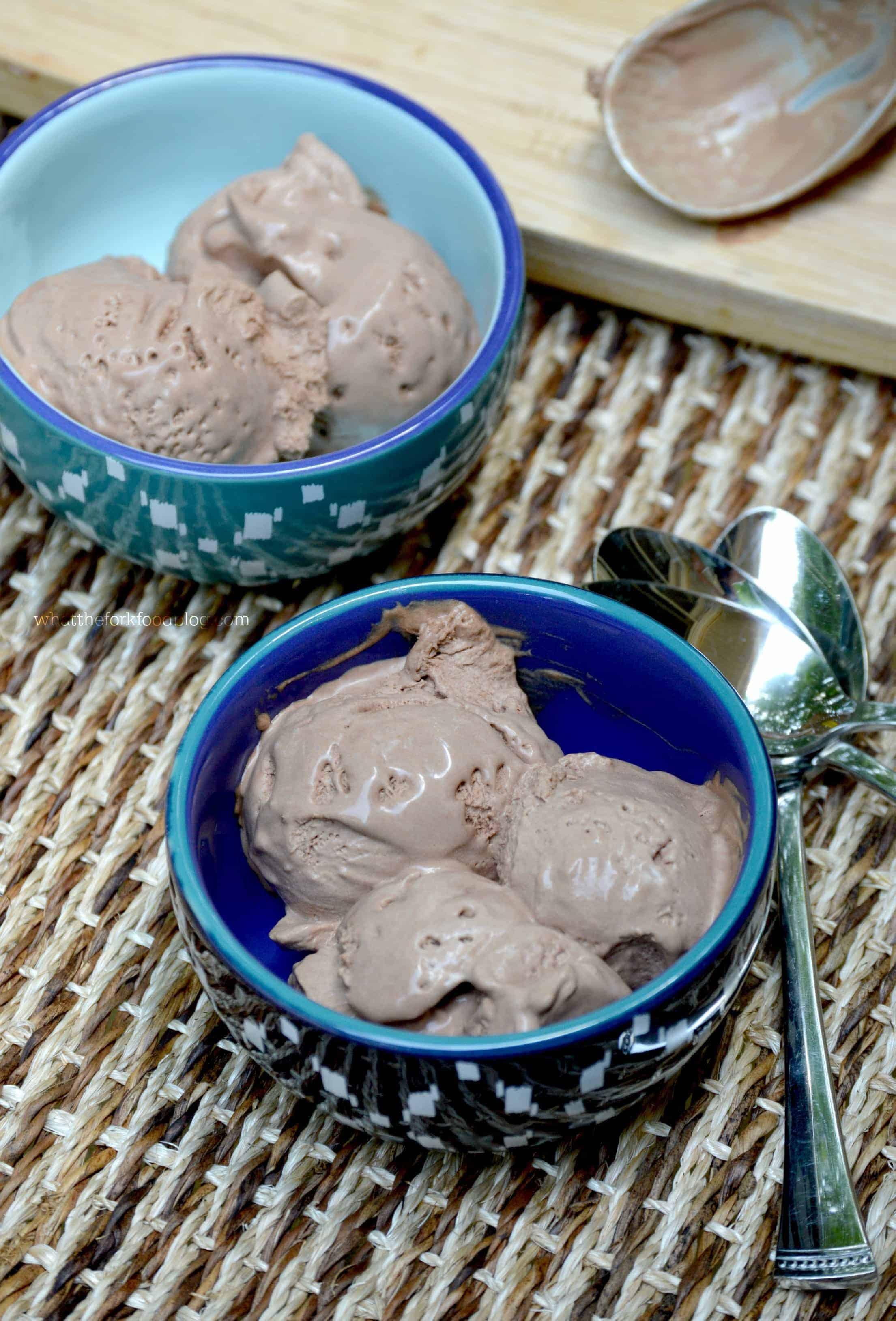 No-Churn Chocolate Ice Cream from What The Fork Food Blog