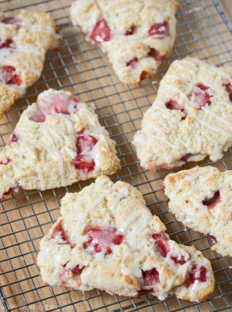 Strawberries and Cream Scones from What The Fork Food Blog