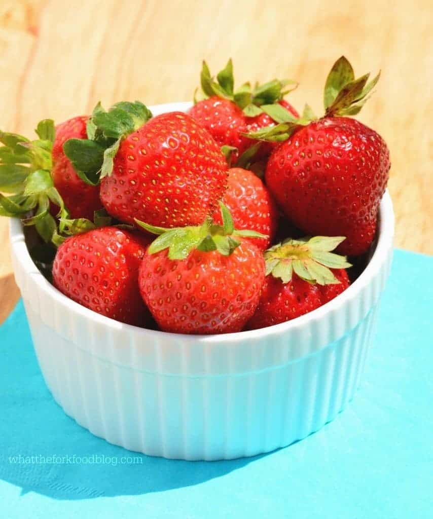 Strawberry Moscato Spritzer from What The Fork Food Blog