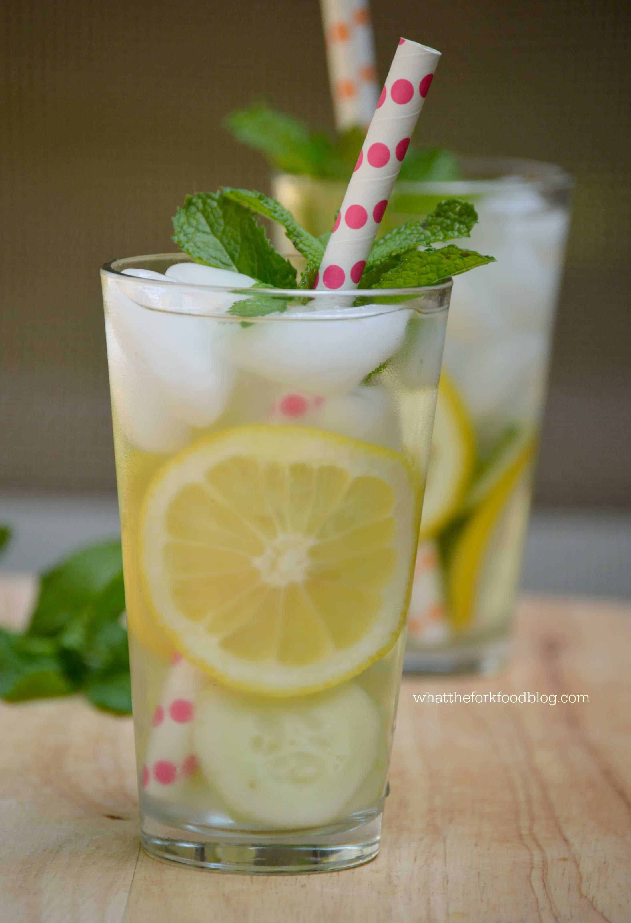 Cucumber, Lemon and Mint Infused Water from What The Fork Food Blog