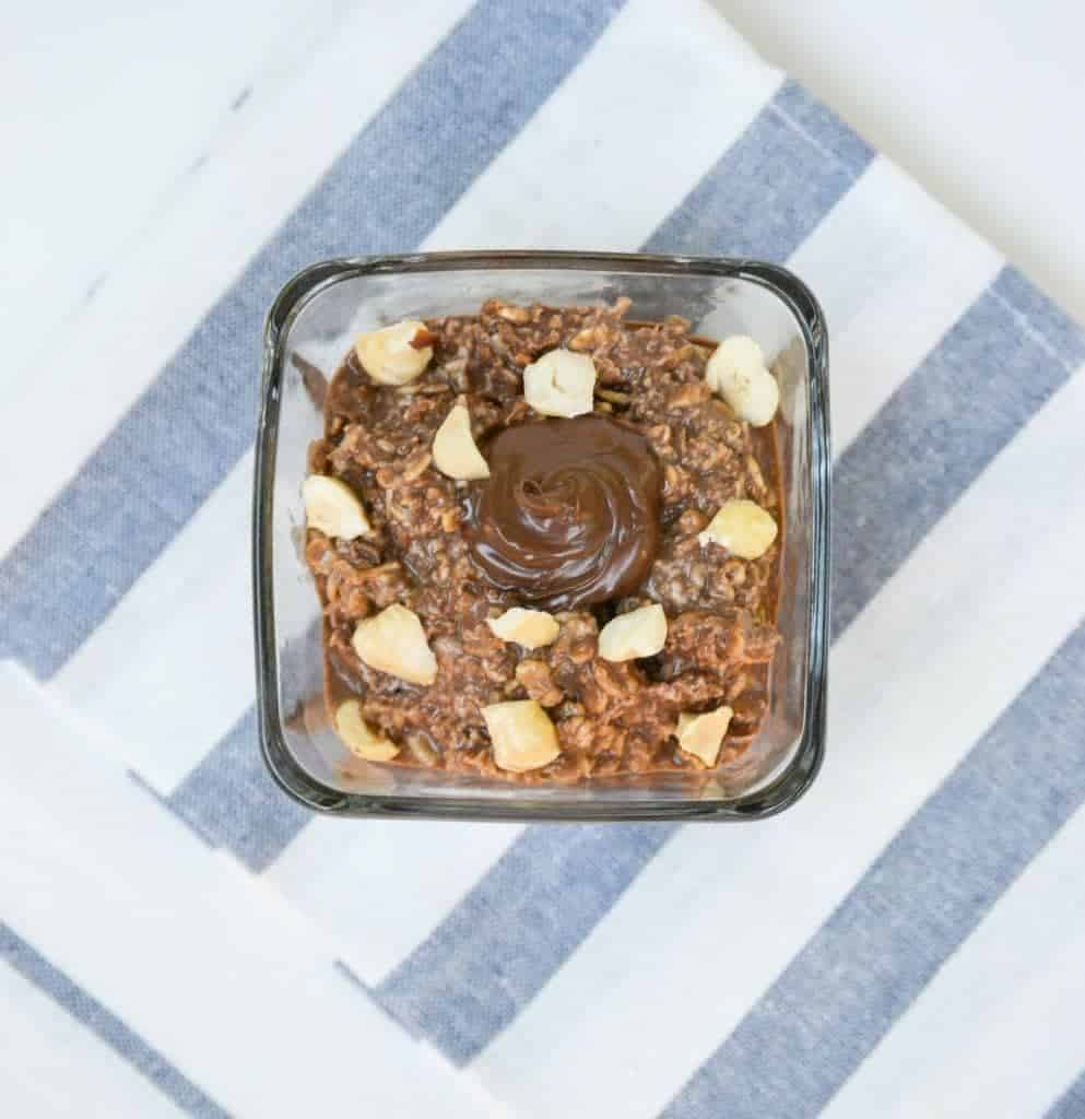 Nutella Overnight Oats from What The Fork Food Blog