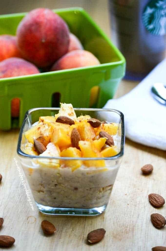Peach Pie Overnight Oats from What The Fork Food Blog