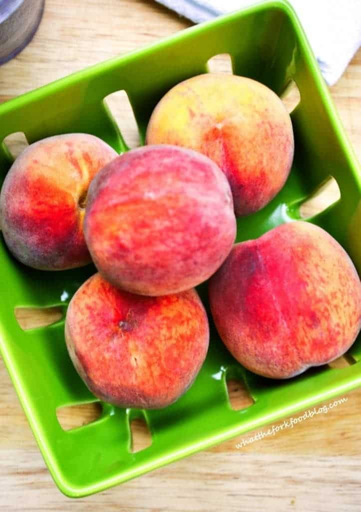 Peaches from What The Fork Food Blog