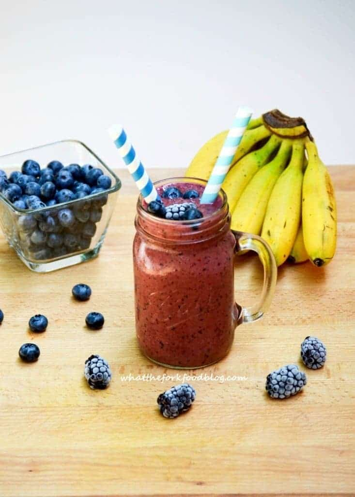 Purple Smoothies from What The Fork Food Blog