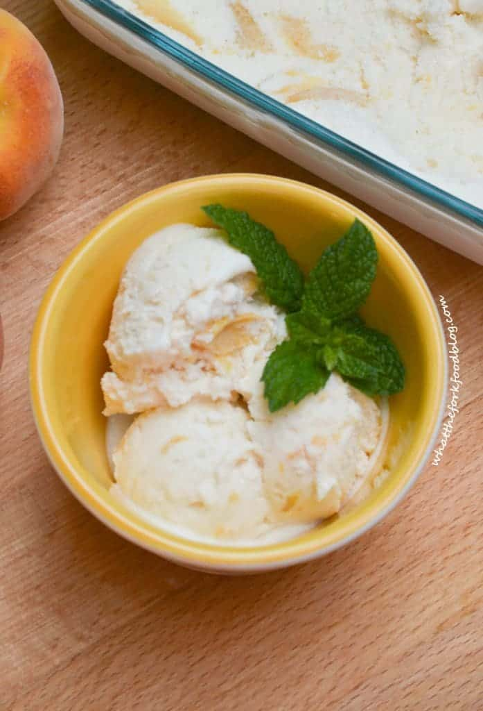 Peach Ice Cream from What The Fork Food Blog