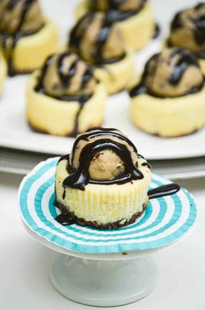 Chocolate Chip Cookie Dough Mini Cheesecakes from What The Fork Food Blog