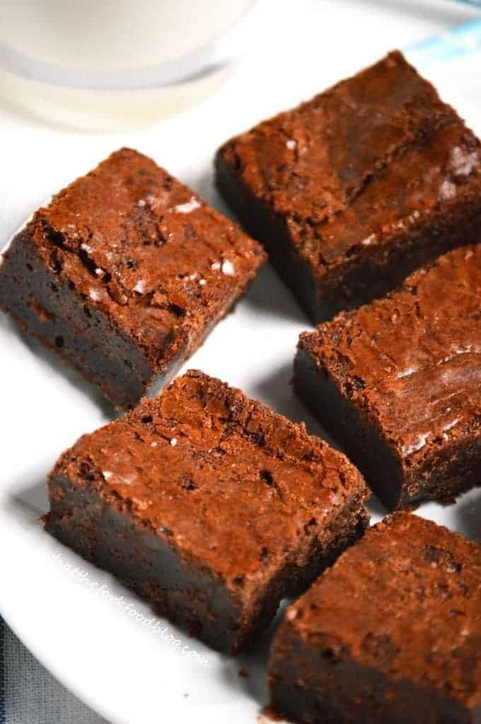 Chocolate Hazelnut Brownies from What The Fork Food Blog