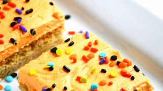 Frosted Sugar Cookie Bars - Perfect for Halloween!