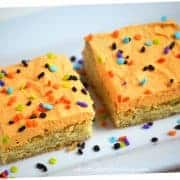 Frosted Sugar Cookie Bars with Halloween Sprinkles from What The Fork Food Blog