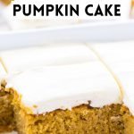 Easy Gluten Free Pumpkin Cake image with text for Pinterest