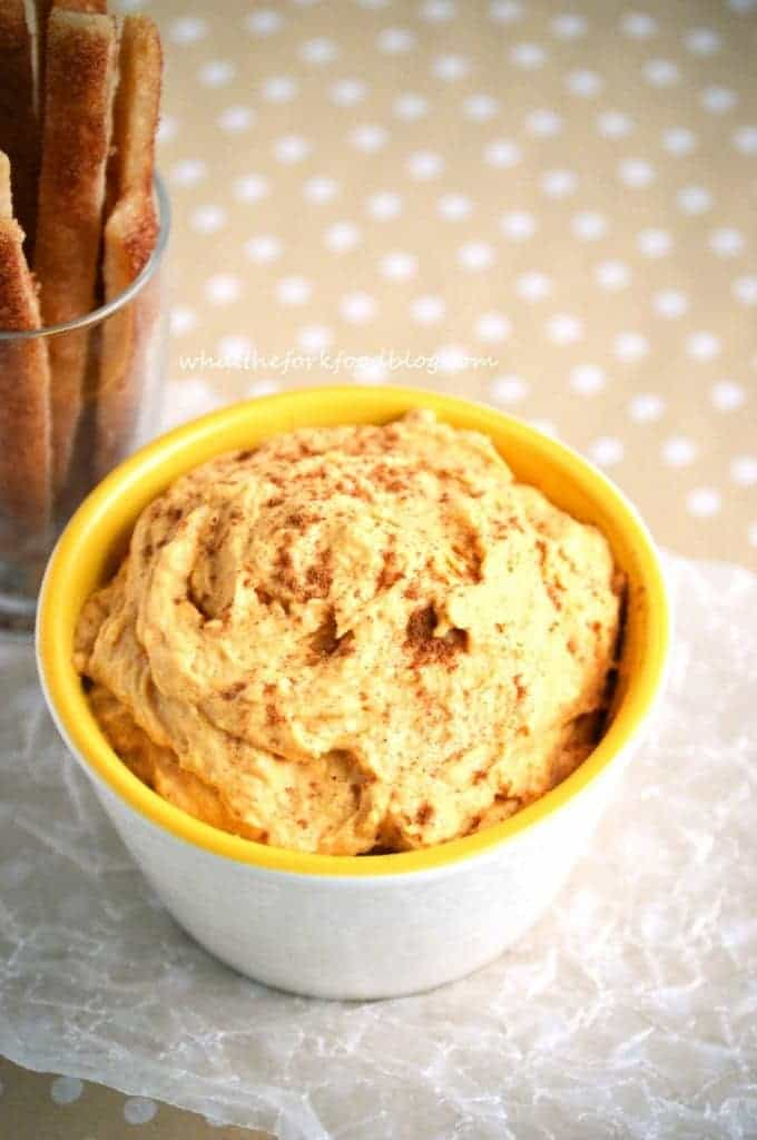Pumpkin Dip with Pie Fries from What The Fork Food Blog