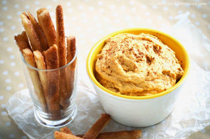 Pumpkin Dip with Pie Fries
