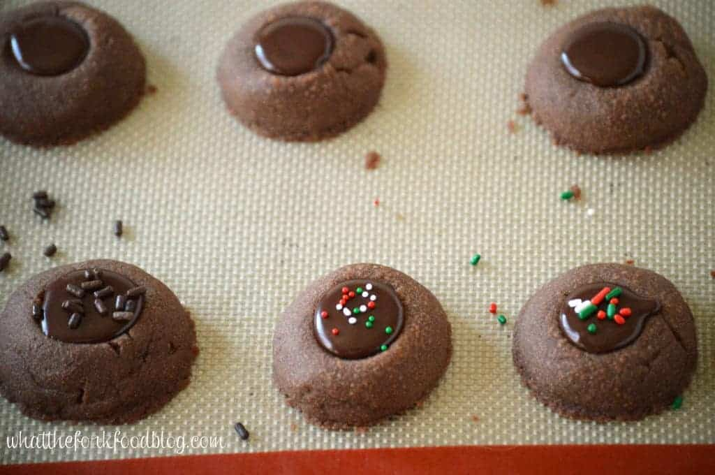 Chocolate Thumbprint Cookies from What The Fork Food Blog