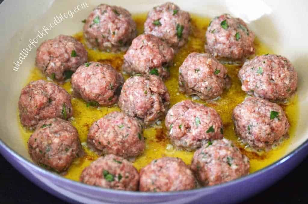 Braised Italian Meatballs from What The Fork Food Blog