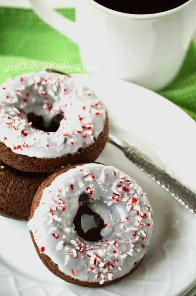 Peppermint Mocha Donuts from What The Fork Food Blog