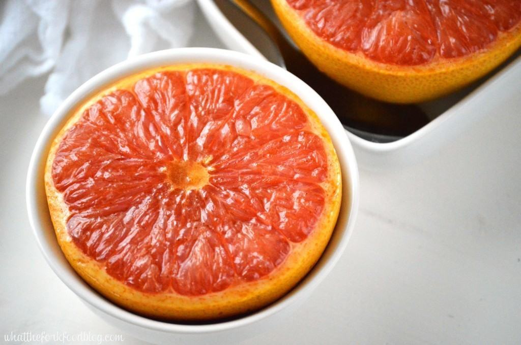 Broiled Grapefruit with Cinnamon and Honey from What The Fork Food Blog