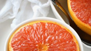 Broiled Grapefruit with Cinnamon and Honey