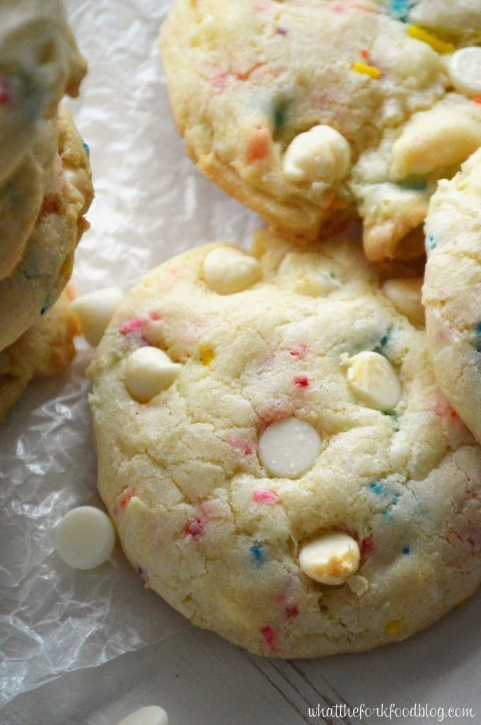 Cake Batter Cookies from What The Fork Food Blog