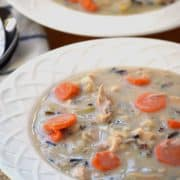 Chicken Wild Rice Soup from What The Fork Food Blog