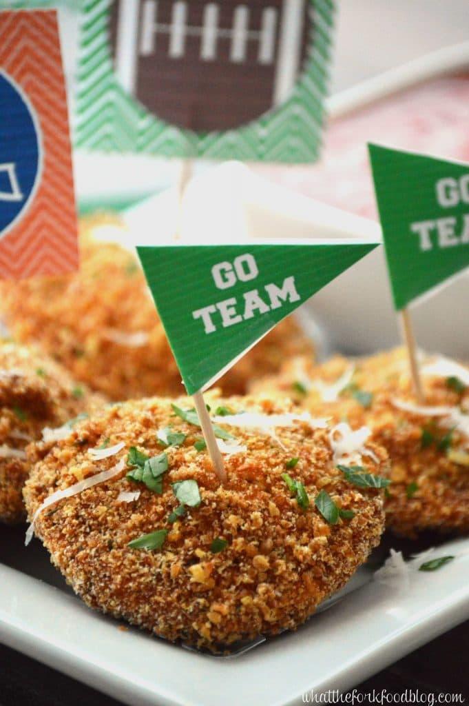 Gluten Free Fried Ravioli from @whattheforkblog | whattheforkfoodblog.com | game day snacks | appetizers