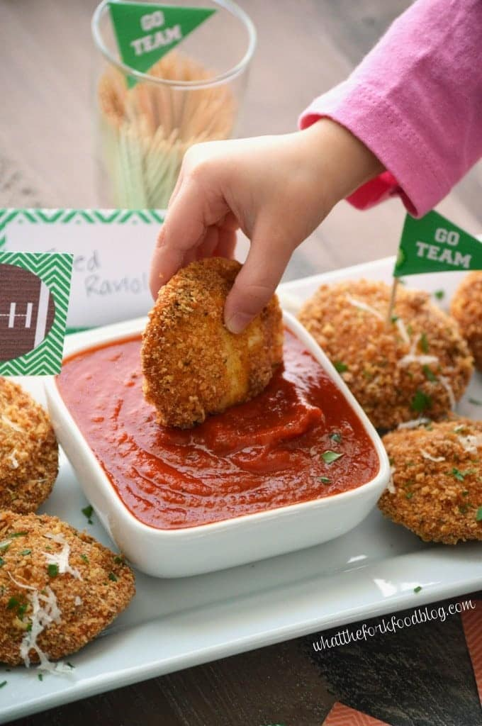 Gluten Free Fried Ravioli from What The Fork Food Blog