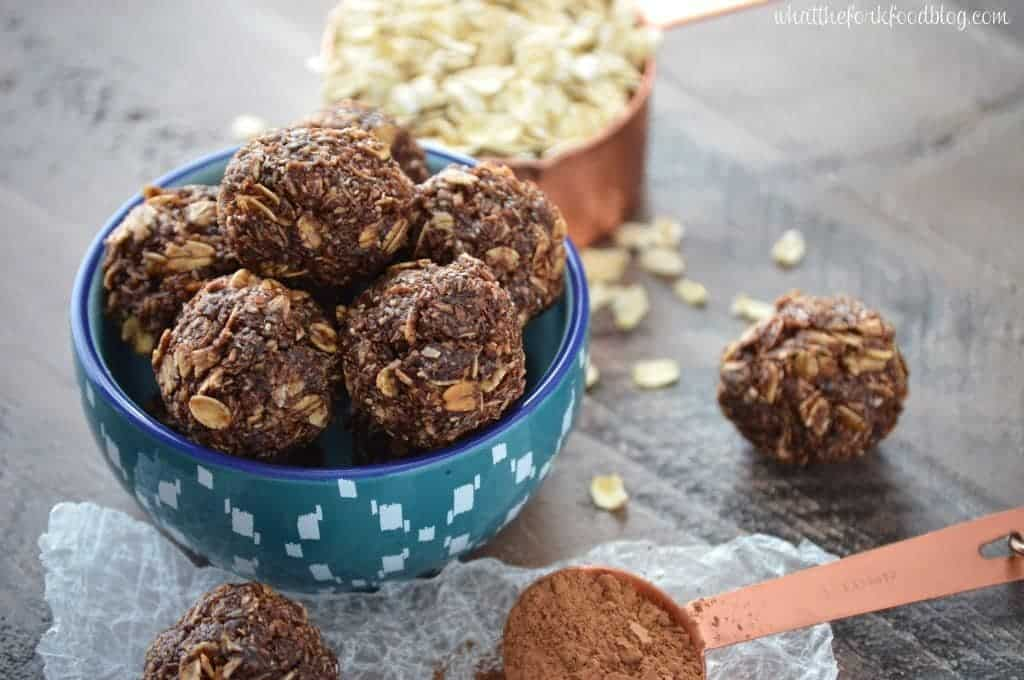 Chocolate Coconut Energy Bites from What The Fork Food Blog