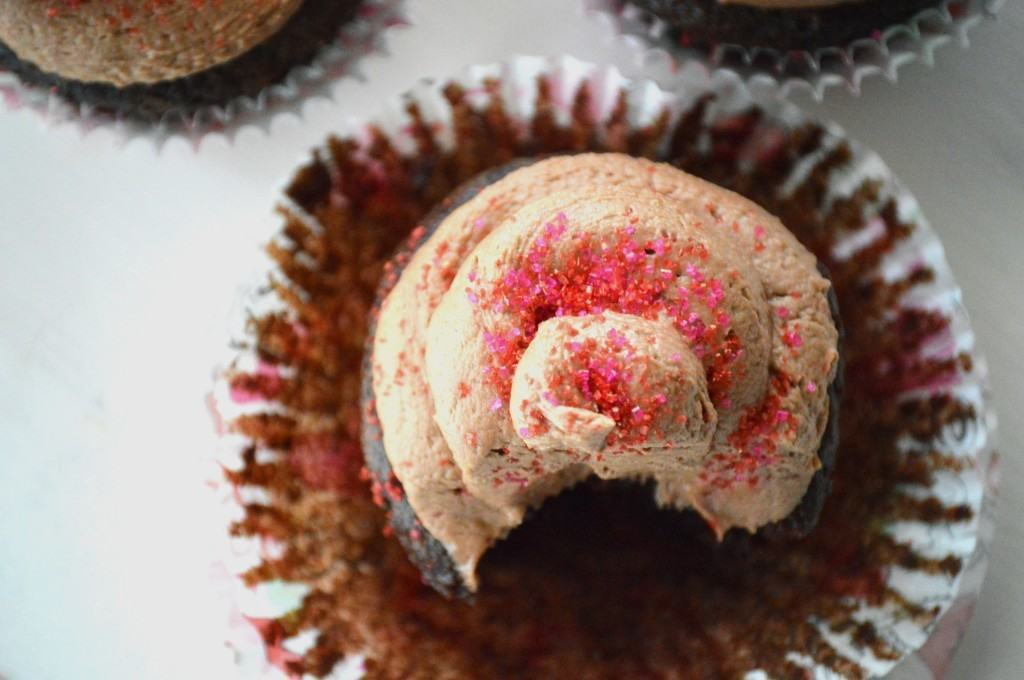 Chocolate Cupcakes for Two from What The Fork Food Blog