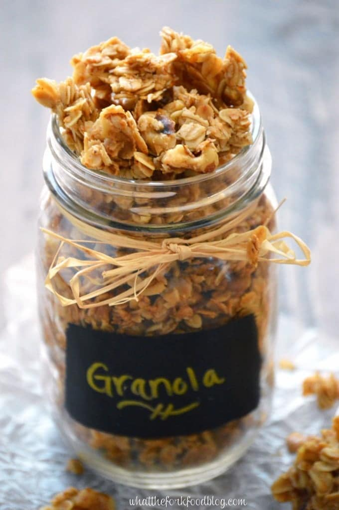 Maple Walnut Granola from What The Fork Food Blog