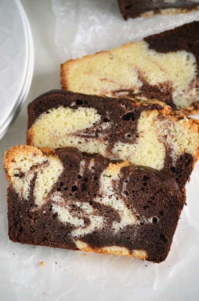 So however you choose to serve this marble pound cake, enjoy!