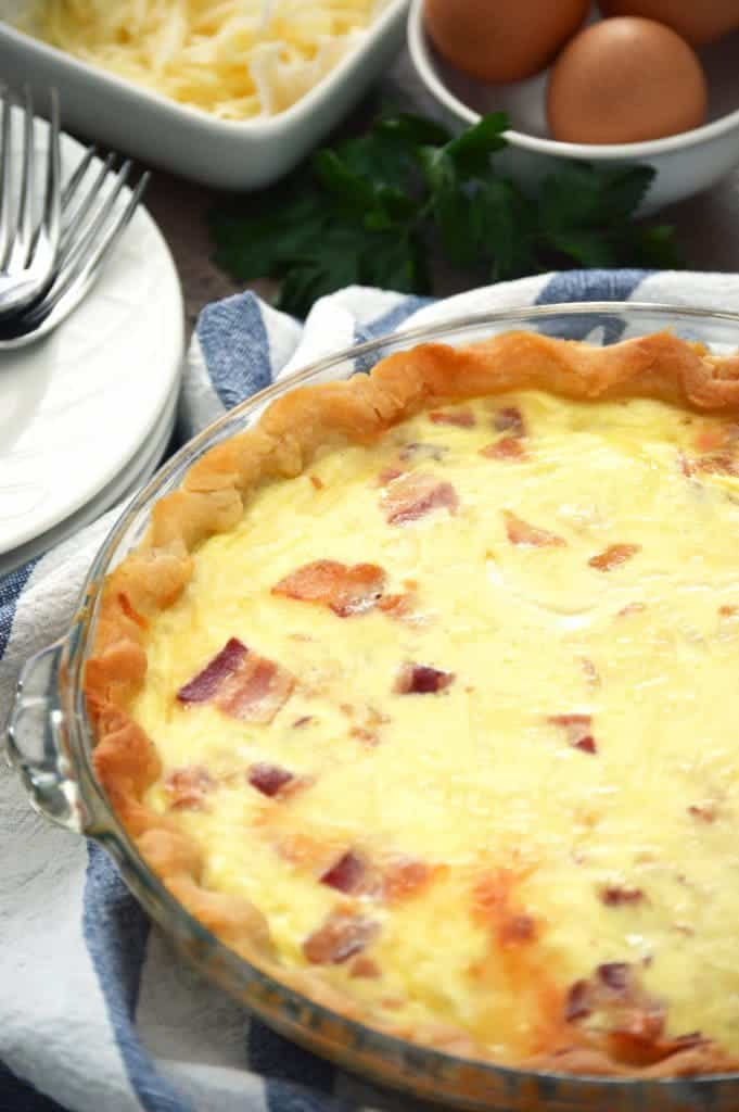 Bacon and Swiss Quiche from What The Fork Food Blog