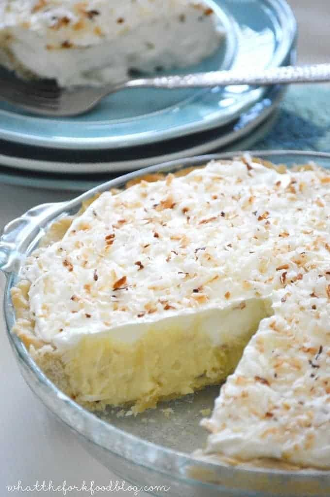 Coconut Cream Pie from What The Fork Food Blog