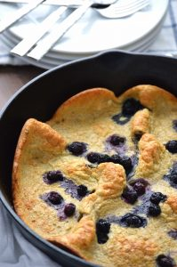 Gluten Free Blueberry Dutch Baby from What The Fork Food Blog
